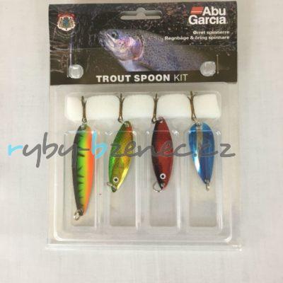 Abu Garcia Sada plandavých třpytek Trout Spoon Kit
