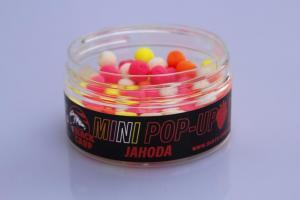 Black Carp Plovoucí boilies MINI POP-UP Jahoda 8mm 30gr