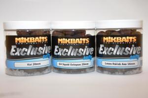 Boilie Mikbaits Exclusive Salty Fanatica Losos&Ráček&Asa 24mm 250ml