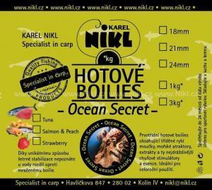 Boilies Nikl Ready Ocean Secret Strawberry 18mm 1kg