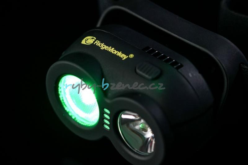 Čelová svítilna RidgeMonkey VRH150 USB