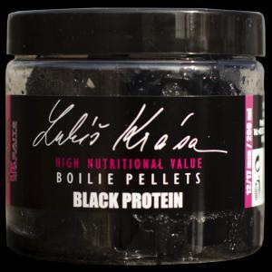 Chytací pelety LK Baits Lukáš Krása Black Protein Boilies Pellet 12/17mm 200ml