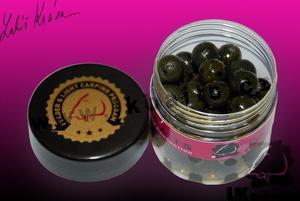 LK Baits Mini Boilies v dipu Black Protein 12mm 150ml