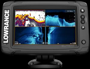 Echolot Lowrance Elite 7Ti2 se sondou Active Imaging 3v1