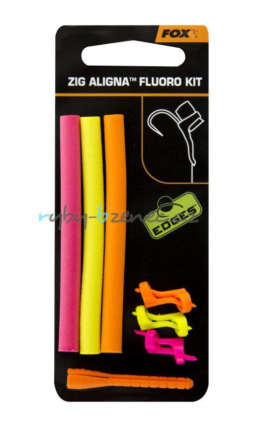 Fox Sada Rovnátko na háček + pěna Edges Zig Aligna Fluoro Kit Pink/Yellow/Orange