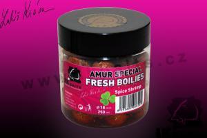 Fresh Boilies LK Baits Economic Amur special Spice Shrimp 18mm 250ml