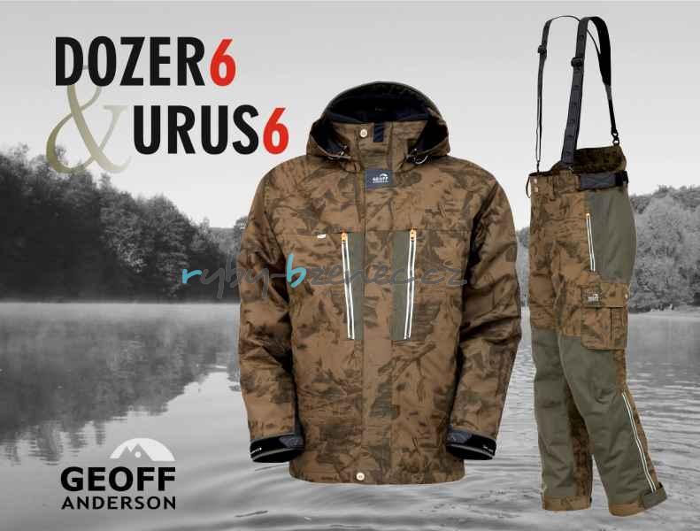 Geoff Anderson Komplet Bunda Dozer 6 + kalhoty Urus 6 Leaf (maskáč) vel. L
