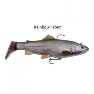 Gumová rybka s háčkem SG Trout Rattle Shad 12,5cm 35gr Rainbow Trout