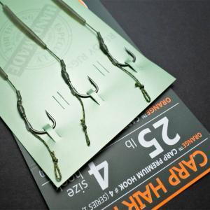Kaprový návazec Life Orange Carp Hair Rigs Series 1 vel. 8