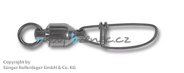 Karabinka s obratlíkem UniCat Kugellager Cross Lock Swivel 90kg