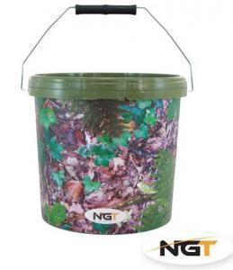 Kbelík NGT Large Camo Bucket 15L