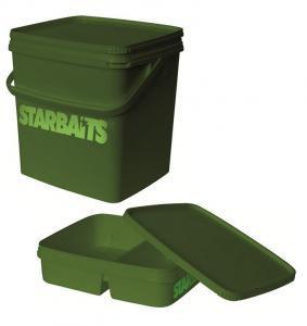 Kbelík hranatý (víko+vanička) Starbaits Square Bucket Set 11l