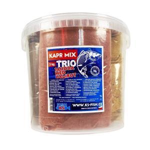 KS Fish Krmítková směs Kapr Mix TRIO 3 - scopex, česnek, halibut 3kg