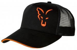 Kšiltovka Fox Black & Orange Trucker Cap