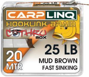 Návazcová šňůrka CarpLinq Fast Sinking 25LB 20m Pitch Black