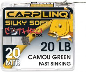 Návazcová šňůrka CarpLinq Fast Sinking 30LB 20m Camou Grey
