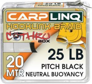 Návazcová šňůrka CarpLinq Neutral Buoyancy 25LB 20m Pitch Black