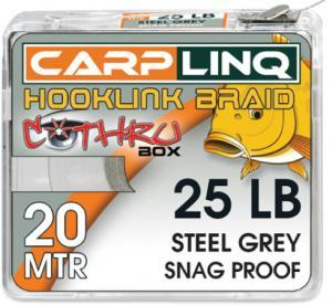 Návazcová šňůrka CarpLinq Snag Proof 15LB 20m Steel Grey