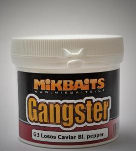 Obalovací těsto Mikbaits Gangster G3 Losos&Caviar&Black Peppper 200gr