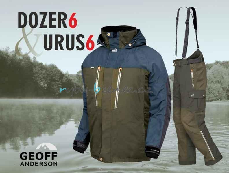 Geoff Anderson Komplet Bunda Dozer 6 + kalhoty + Urus 6 Green (zelený) vel. XL