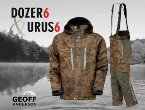 Geoff Anderson Komplet Bunda Dozer 6 + kalhoty + Urus 6 Leaf (maskáč) vel. XL