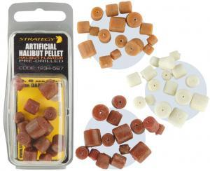 Pelety umělé Strategy Artificial Halibut Pellet 6,8,10mm Light brown
