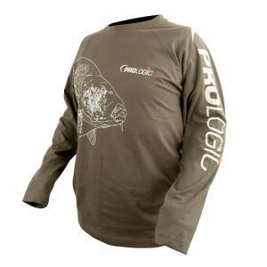 Prologic Tričko s dlouhým rukávem Carp T-Shirt Long/S Sage Green vel. M