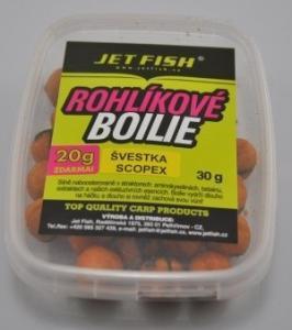 Rohlíkové boilies Jet Fish Biocrab 14mm 30gr