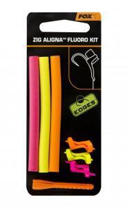 Sada rovnátko + pěna Fox Edges Zig Aligna Fluoro Kit Pink/Yellow/Orange