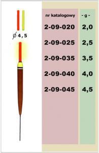 Splávek Tim pevný úzký (chemické světlo) 3gr