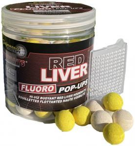 Starbaits Fluoro Pop-Ups Boilies Concept Red Liver 14mm 80gr