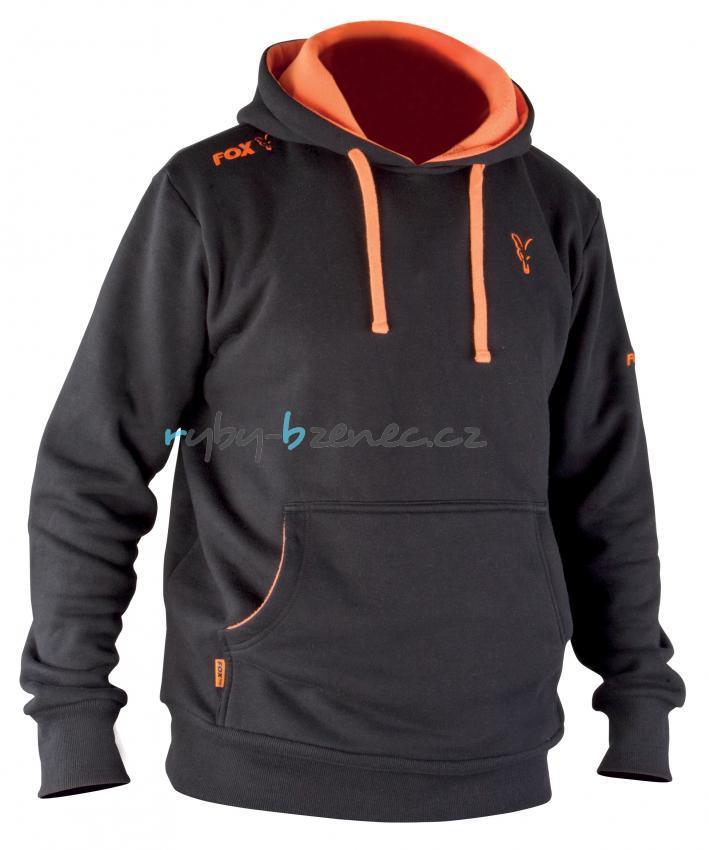 24988fc4a21 Tepláková mikina Fox Black   Orange Hoody vel. XXL - Rybářské ...