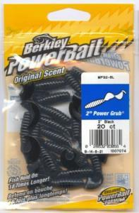 Berkley Power Bait Power Grub 5cm Black