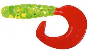 Twister SPRO Spiro Tail 5,5cm Chartreuse Red