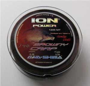 Awa-Shima Vlasec Ion Power Browny Carp 0,331mm 1200m