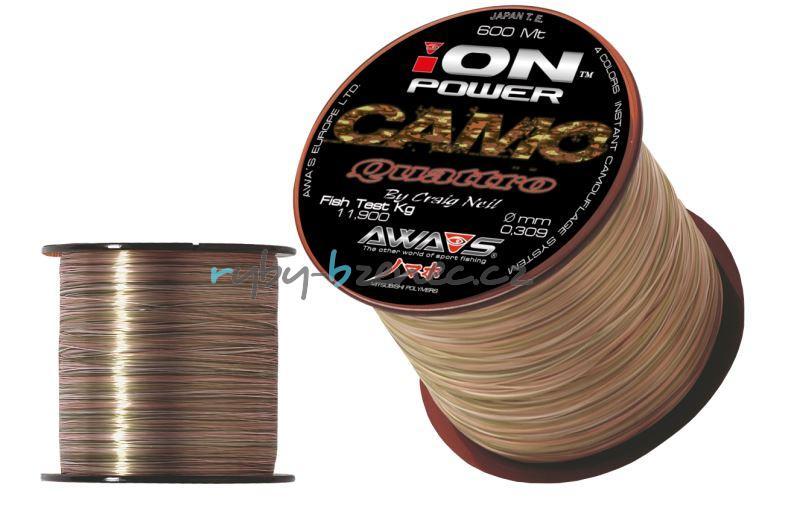 Awa-Shima Vlasec Ion Power Camo Quattro 0,354mm 600m