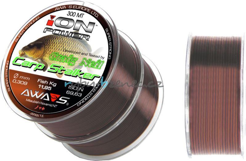 Awa-Shima Vlasec Ion Power Carp Stalker 0,405mm 2x300m