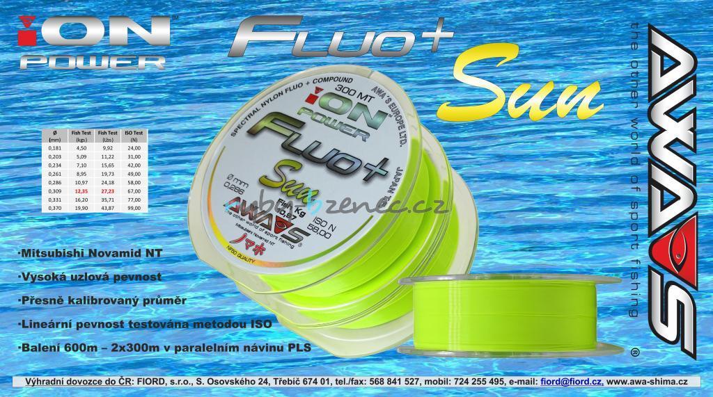 Awa-Shima Vlasec Ion Power Fluo+ Sun 0,370mm 2x300m