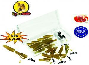 Závěska na olovo sada ExtraCarp Lead Clip Extra Box With Rolling Swivel
